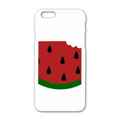 Food Slice Fruit Bitten Watermelon Apple iPhone 6/6S White Enamel Case