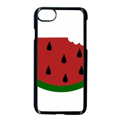 Food Slice Fruit Bitten Watermelon Apple Iphone 7 Seamless Case (black)