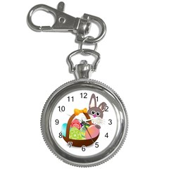 Easter Bunny Eggs Nest Basket Key Chain Watches