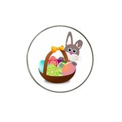Easter Bunny Eggs Nest Basket Hat Clip Ball Marker (10 pack)