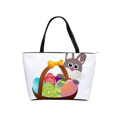 Easter Bunny Eggs Nest Basket Shoulder Handbags