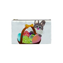 Easter Bunny Eggs Nest Basket Cosmetic Bag (Small)