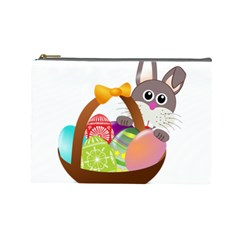 Easter Bunny Eggs Nest Basket Cosmetic Bag (Large)