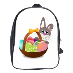 Easter Bunny Eggs Nest Basket School Bags(Large)