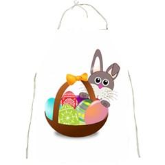 Easter Bunny Eggs Nest Basket Full Print Aprons