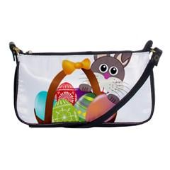 Easter Bunny Eggs Nest Basket Shoulder Clutch Bags