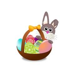 Easter Bunny Eggs Nest Basket 5.5  x 8.5  Notebooks