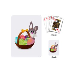Easter Bunny Eggs Nest Basket Playing Cards (Mini)