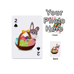 Easter Bunny Eggs Nest Basket Playing Cards 54 (Mini)
