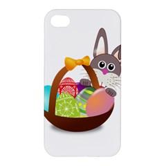 Easter Bunny Eggs Nest Basket Apple Iphone 4/4s Premium Hardshell Case