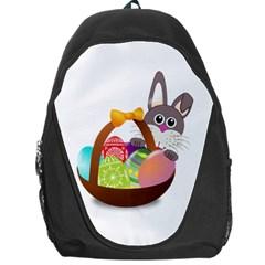 Easter Bunny Eggs Nest Basket Backpack Bag
