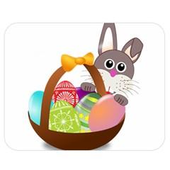 Easter Bunny Eggs Nest Basket Double Sided Flano Blanket (Medium)