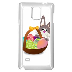 Easter Bunny Eggs Nest Basket Samsung Galaxy Note 4 Case (White)