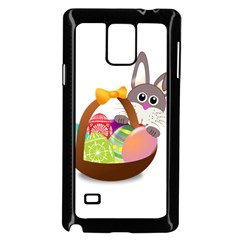 Easter Bunny Eggs Nest Basket Samsung Galaxy Note 4 Case (Black)