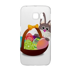 Easter Bunny Eggs Nest Basket Galaxy S6 Edge