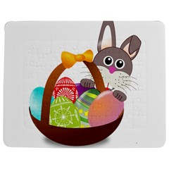 Easter Bunny Eggs Nest Basket Jigsaw Puzzle Photo Stand (Rectangular)