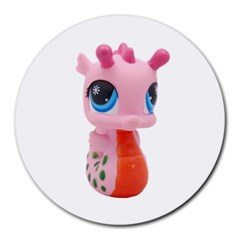 Dragon Toy Pink Plaything Creature Round Mousepads