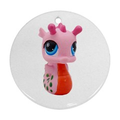 Dragon Toy Pink Plaything Creature Ornament (Round)