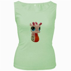 Dragon Toy Pink Plaything Creature Women s Green Tank Top