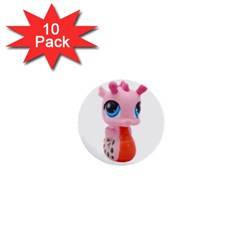 Dragon Toy Pink Plaything Creature 1  Mini Buttons (10 pack)
