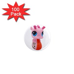 Dragon Toy Pink Plaything Creature 1  Mini Magnets (100 pack)