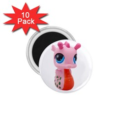 Dragon Toy Pink Plaything Creature 1.75  Magnets (10 pack)