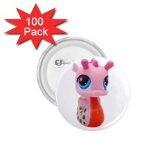 Dragon Toy Pink Plaything Creature 1.75  Buttons (100 pack)
