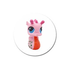 Dragon Toy Pink Plaything Creature Magnet 3  (Round)