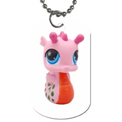 Dragon Toy Pink Plaything Creature Dog Tag (One Side)