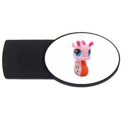 Dragon Toy Pink Plaything Creature USB Flash Drive Oval (1 GB)