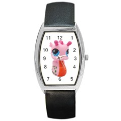 Dragon Toy Pink Plaything Creature Barrel Style Metal Watch