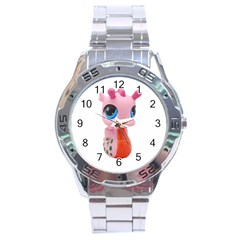 Dragon Toy Pink Plaything Creature Stainless Steel Analogue Watch
