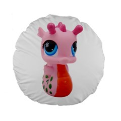 Dragon Toy Pink Plaything Creature Standard 15  Premium Round Cushions