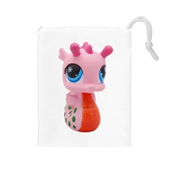 Dragon Toy Pink Plaything Creature Drawstring Pouches (Large)
