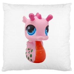 Dragon Toy Pink Plaything Creature Large Flano Cushion Case (One Side)