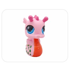 Dragon Toy Pink Plaything Creature Double Sided Flano Blanket (Medium)