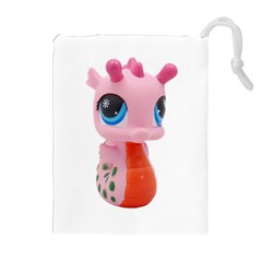Dragon Toy Pink Plaything Creature Drawstring Pouches (Extra Large)