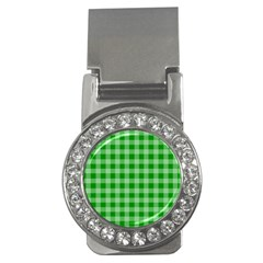 Gingham Background Fabric Texture Money Clips (CZ)