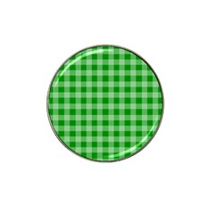 Gingham Background Fabric Texture Hat Clip Ball Marker (4 pack)