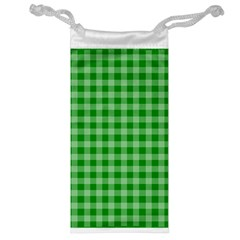Gingham Background Fabric Texture Jewelry Bag