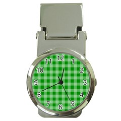 Gingham Background Fabric Texture Money Clip Watches
