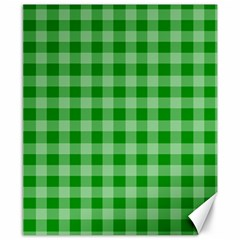 Gingham Background Fabric Texture Canvas 8  x 10