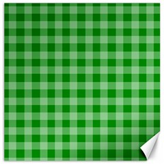 Gingham Background Fabric Texture Canvas 16  x 16
