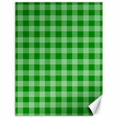 Gingham Background Fabric Texture Canvas 18  x 24