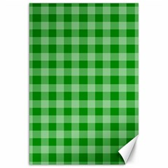 Gingham Background Fabric Texture Canvas 20  x 30