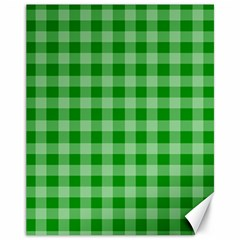 Gingham Background Fabric Texture Canvas 11  X 14