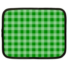 Gingham Background Fabric Texture Netbook Case (XL)
