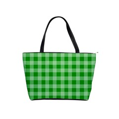 Gingham Background Fabric Texture Shoulder Handbags