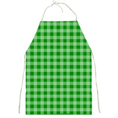 Gingham Background Fabric Texture Full Print Aprons