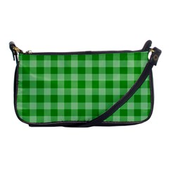Gingham Background Fabric Texture Shoulder Clutch Bags